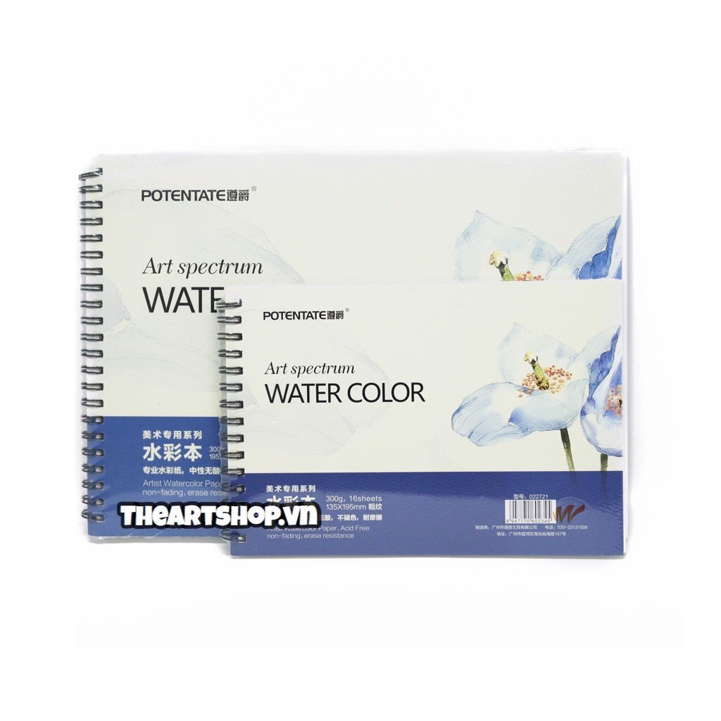 Sổ vẽ màu nước POTENTATE - POTENTATE Watercolour Pad (Rough Surface)
