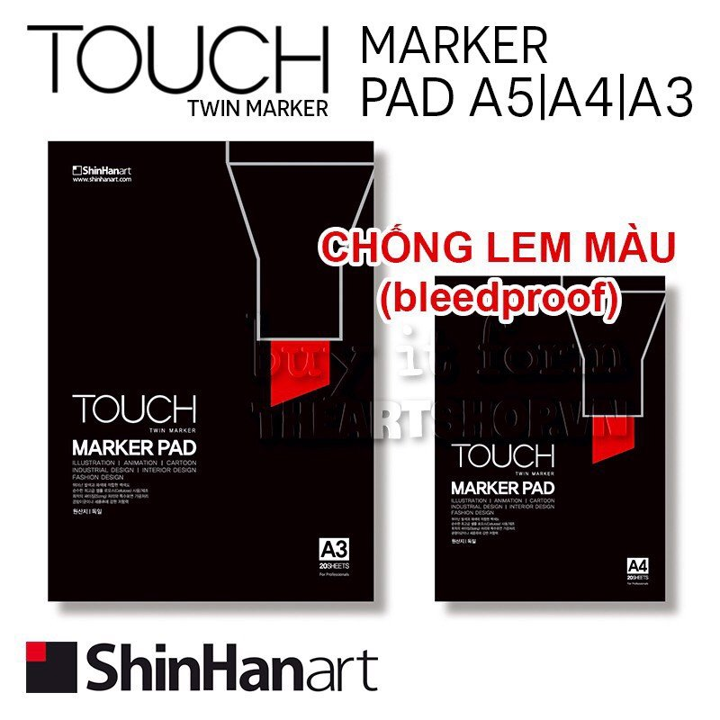 Sổ vẽ marker pad SHINHAN TOUCH - SHINHAN TOUCH Marker Pad-bleed proof
