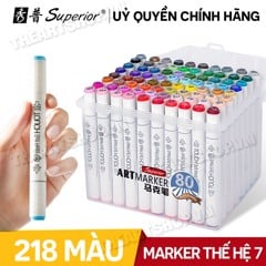 Bộ bút marker SUPERIOR Touch Softhead - SUPERIOR Touch Soft Head Marker Set 24/36/40/48/60/80/120/218