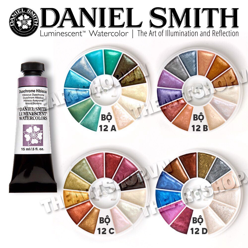 Bộ Pocket màu nước DANIEL SMITH - DANIEL SMITH Luminescent Pocket Watercolor 0.6ml/1ml