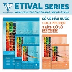 Sổ vẽ màu nước CLAIREFONTAINE - CLAIREFONTAINE Etival Watercolor Pad-Cold/Hot Pressed