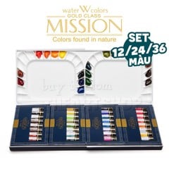 Bộ màu nước MIJELLO MISSION Gold Class dạng tuýp 12/24/36 màu (7ml) - MIJELLO MISSION Gold Class Watercolor (Tube 7ml)