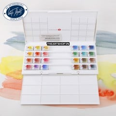 Bộ màu nước WHITE NIGHTS 24 màu (Hộp nhựa) - WHITE NIGHTS Watercolor Set 24 colors (Plastic box)
