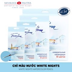 Bộ màu chì nước WHITE NIGHTS 12/24/36/48 màu (Hộp giấy) - WHITE NIGHTS 12/24/36/48Watercolor Pencils (Paper box)