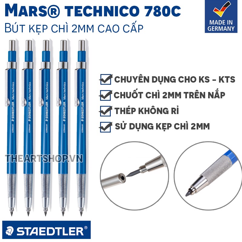 Bút kẹp lõi chì STAEDTLER - STAEDTLER Mars Technico 780 Lead Holder 2mm