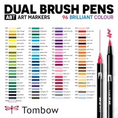 Bút marker TOMBOW (Bán lẻ) - TOWBOW ABT Dual Brush Pens (Retail & Full Set 96)