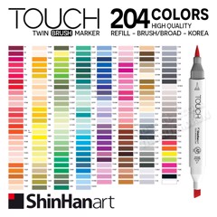 Bút marker TOUCH TWIN BRUSH MARKER 204 colors - SHINHAN ART