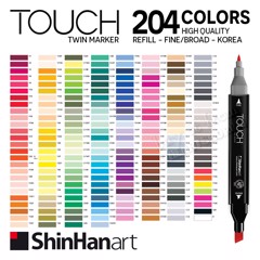 Bút marker SHINHAN ART - SHINHAN ART Touch Twin Marker 204 colors