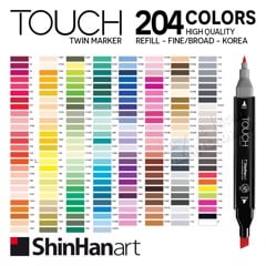 Bút marker TOUCH TWIN MARKER 204 colors - SHINHAN ART