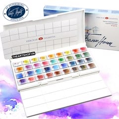 Bộ màu nước WHITE NIGHTS 36 màu (Hộp nhựa) - NEVSKAYA PALITRA WHITE NIGHTS Watercolor Set 36 colors (Plastic box)