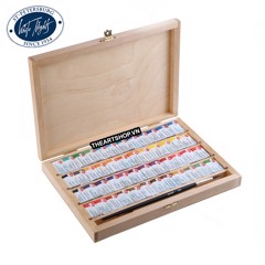 Bộ màu nước WHITE NIGHTS 48 màu (Hộp gỗ) - NEVSKAYA PALITRA WHITE NIGHTS Watercolor Set 48 colors (Wood box)