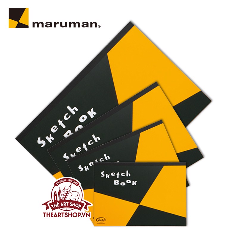 Sổ vẽ MARUMAN 50 tờ  - MARUMAN ZUAN Sketchpad - 126,5gsm-50 Sheets (Made in Japan)