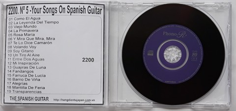 2200. The Spanish Guitar - Nº 5 -Your Songs On Spanish Guitar- (Homenaje Flamenco A -Camarón De La Isla-)