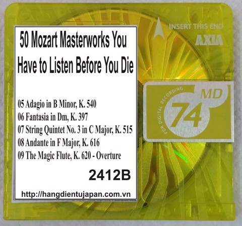 2412B. Wolfgang Amadeus Mozart - 50 Mozart Masterworks You Have to Listen Before You Die (Golden Deer Classics)