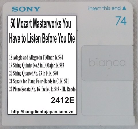 2412E. Wolfgang Amadeus Mozart - 50 Mozart Masterworks You Have to Listen Before You Die (Golden Deer Classics)