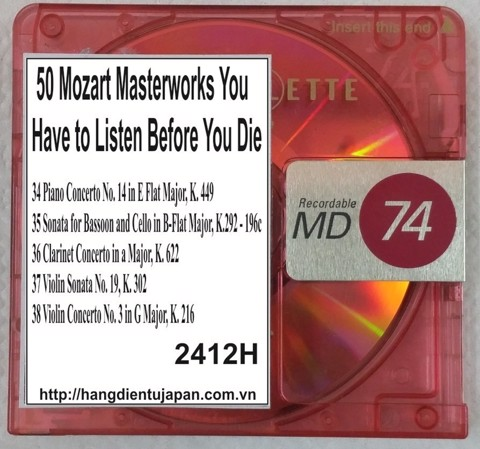 2412H. Wolfgang Amadeus Mozart - 50 Mozart Masterworks You Have to Listen Before You Die (Golden Deer Classics)