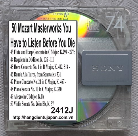 2412J. Wolfgang Amadeus Mozart - 50 Mozart Masterworks You Have to Listen Before You Die (Golden Deer Classics)