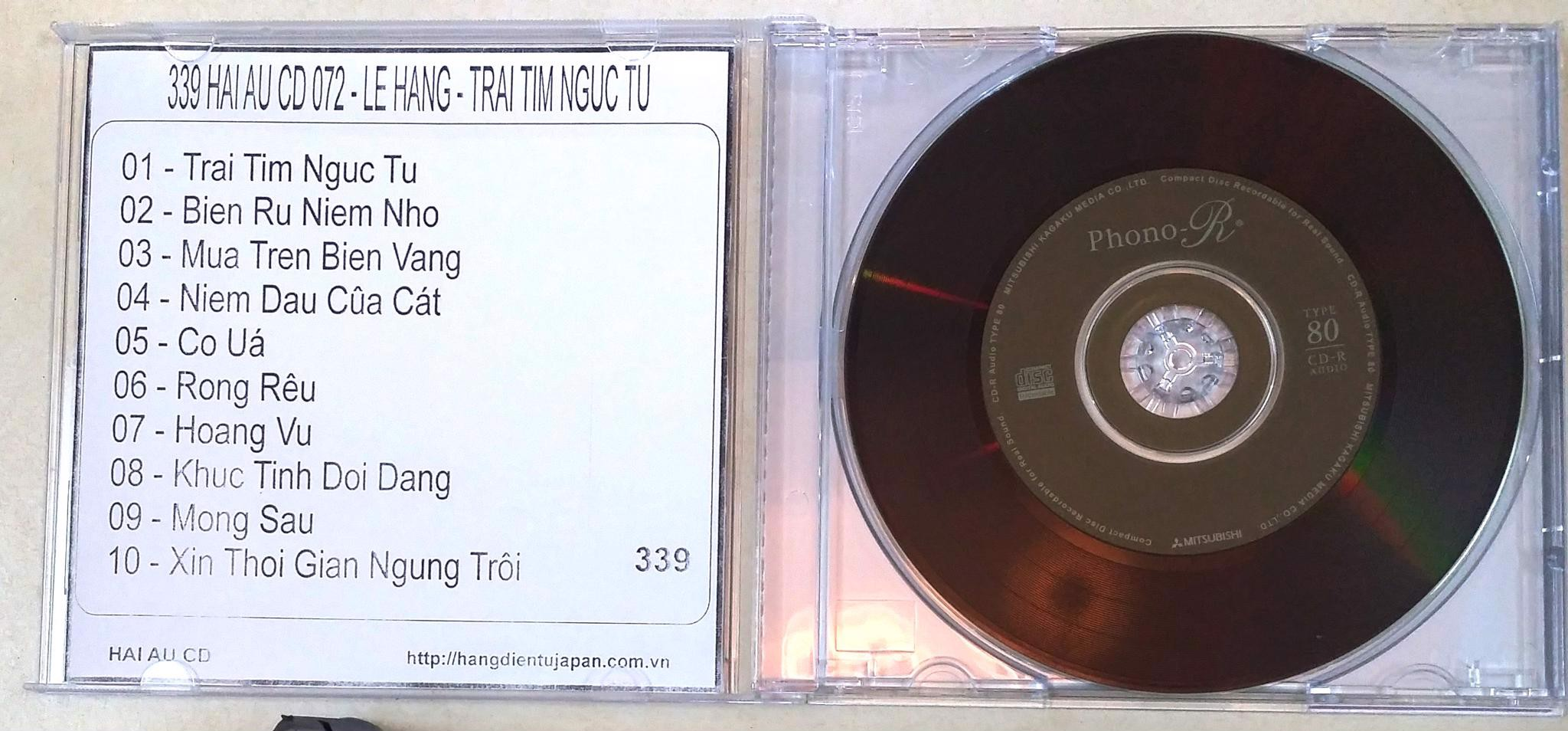 339 HAI AU CD 072 - LE HANG - TRAI TIM NGUC TU
