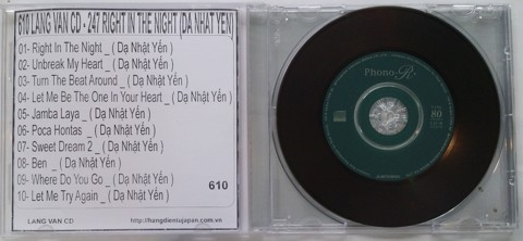 610 -LANG VAN CD - 247 RIGHT IN THE NIGHT (DA NHAT YEN)
