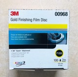 Nhám đĩa 3M Gold Finishing Film Disc 00968 P1200 6in hộp 100 tờ