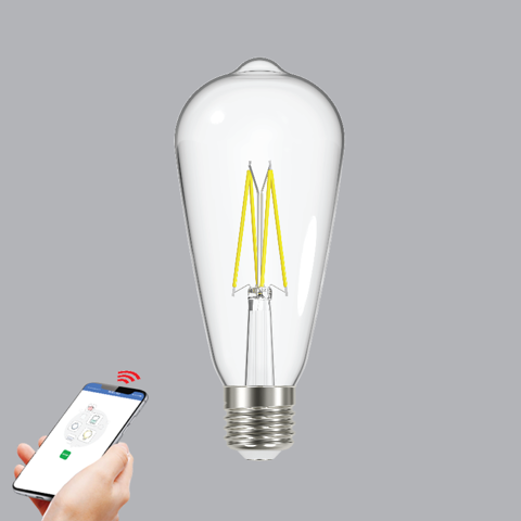 ĐÈN LED FILAMENT SMART-WIFI MPE 6W ST64SC