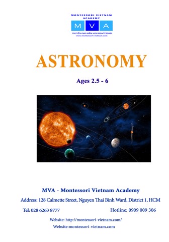 Astronomy - AGES 2.5 - 6