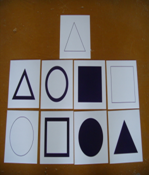 Geometric drawing block paper cards