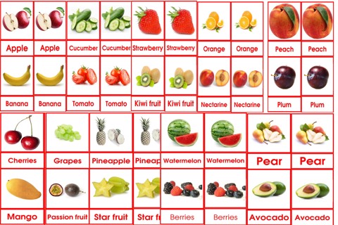Fruits card 3to6
