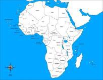 Africa Control Map – Unlabeled