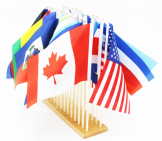 North America flag stands