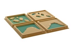 Land and Water Form Trays: set 2