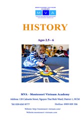 HISTORY - AGES 2.5 - 6