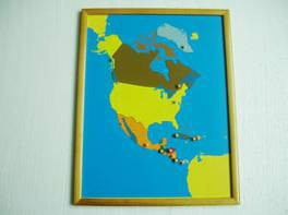 PREMIUM North America Puzzle Map With BEECHWOOD FRAME