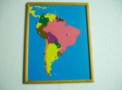 PREMIUM South America Puzzle Map With BEECHWOOD