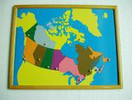 PREMIUM Canada Puzzle Map With BEECHWOOD FRAME