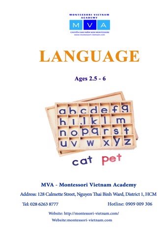 Language - AGES 2.5 - 6