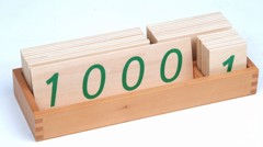Các thẻ số từ 1 đến 1000 cỡ lớn<BR>Large Wooden Number Cards With Box (1-1000)