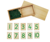 Print Numerals & Counters green