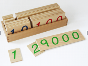 Wooden Number Cards :Middle (1-9000)