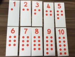 Cards for Number Puzzle 1-10