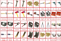 Materials Tools 3 to 6