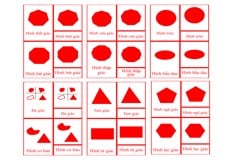 Polygons 3-Part Cards - Complex Concepts - Red
