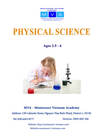 Physical Science - AGES 2.5 - 6