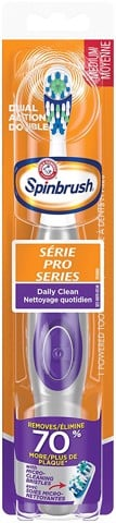 Bàn chải pin ARM & HAMMER Spinbrush PRO Series Daily Clean