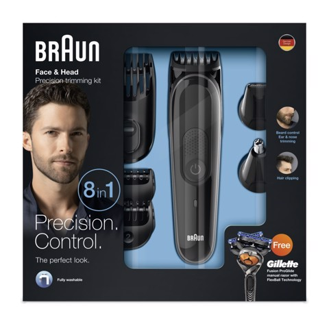 Máy cạo râu nam Braun MGK3060 8 trong 1, All-in-One Beard Trimmer for Men