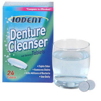 Thuốc vệ sinh hàm răng giảof Iodent Antibacterial Denture Cleanser