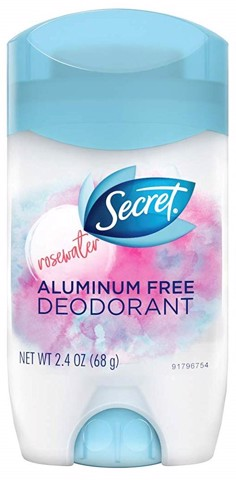 Sáp khử mùi nữ - Secret Antiperspirant Deodorant Aluminum Free Invisible Solid Rosewater Scent 68g
