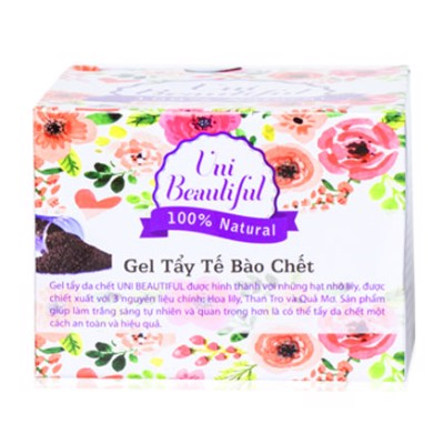 Gel Tẩy Tế Bào Chết Face & Body Than Tre Uni Beautiful