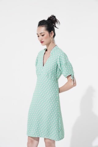 SEAFOAM CHERRY DRESS