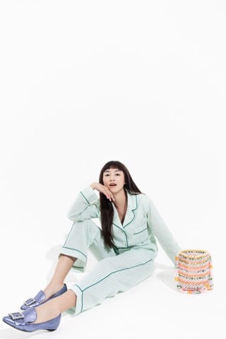 HOME SWEET HOME PJ PANTS - MINT TEA